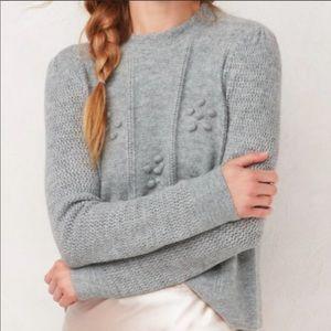 LC Lauren Conrad Gray Mixed Knit Metallic Sweater